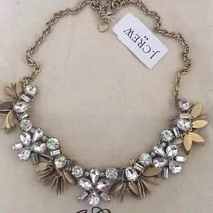NWT J.Crew Crystal bouquet Statement Necklace